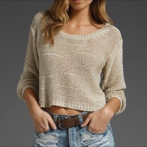 Brandy Melville Distressed Crop Sweater